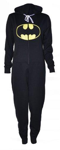 hoodied onesie)(sty) frauen schwarz batman onesie (40/42 (uk 12/14)) (Batman Onesies Für Erwachsene)