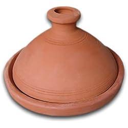 Marrakech Accessoires–Tajín marroquí (para 6personas 32cm | Original olla de barro (handgetöpfert de Marruecos |–Cacerola