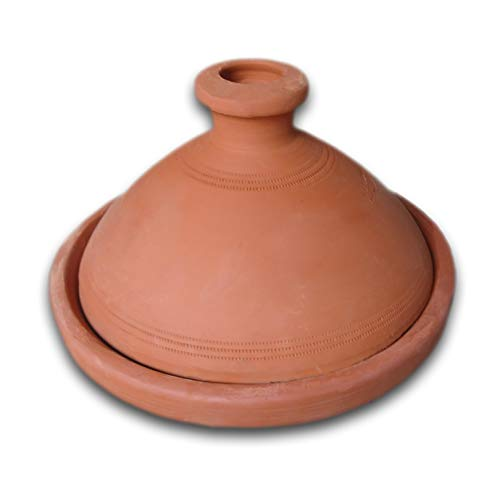 Marokkanische Tajine für 6 Personen 31cm | original Tontopf handgetöpfert aus Marokko | Schmortopf