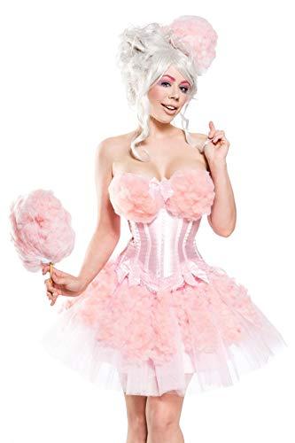 Girl 007 Kostüm - Generique - Candy Zuckerwatten-Kostüm für Damen Fasching rosa S
