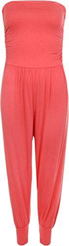 WearAll - Combinaison bain du soleil en style 'harem' - Combinaisons - Femmes - Tailles 36 à 42 Corail