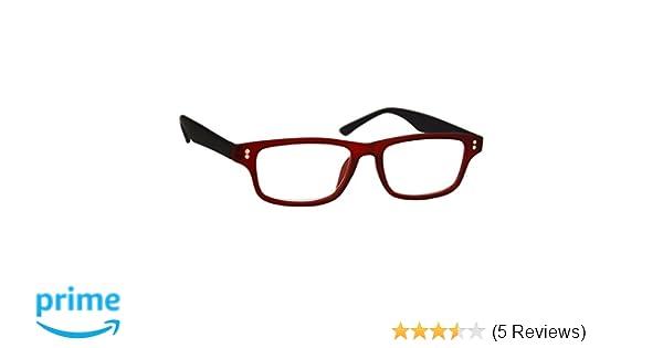 3178c198c74 UV Reader Rubberized Red Black Reading Glasses Mens Womens UVR033 Strength  +1.00  Amazon.co.uk  Health   Personal Care