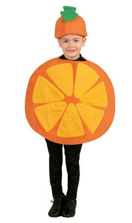 Orange - Kostüm für Kinder Gr. 98 - 116, Größe:98/104
