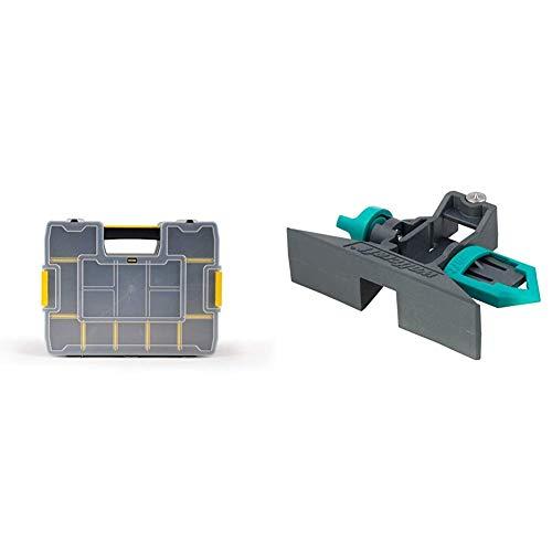 Stanley Organizer SortMaster Junior Werkzeugbox leer 1-97-483 – Stapelbarer Sortimentskasten aus Kunsstoff & Wolfcraft 5221000 Streichmaß für Zollstöcke