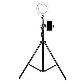 XHH-Ringlicht, 26Cm 5W Dimmbar LED Ringlicht, Blitzschuhadapter Für Vlogs, YouTube Video, Selfies,Zum Schminken