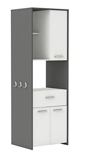 habeig Hochschrank Cousine 817 Küchenschrank Küchenregal Buffetschrank weiß grau
