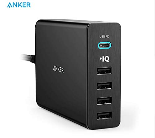 anker powerport 5 port 60w usb type c ladeger t qi. Black Bedroom Furniture Sets. Home Design Ideas