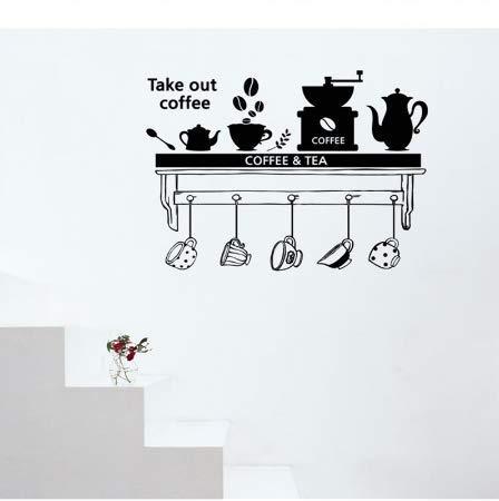 Rabatt Esszimmer-möbel (Luotears Kaffee tee zeit esszimmer wohnzimmer wandaufkleber küche aufkleber diy wohnkultur wandbild abnehmbare wohnkultur wandaufkleber)
