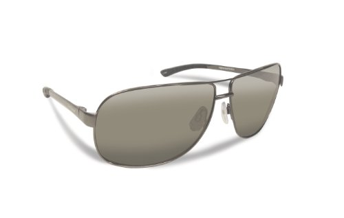 Fliegen Fisherman Highlander Polarisationsbrillen (dunkel Gunmetal Rahmen, Smoke Lenses)