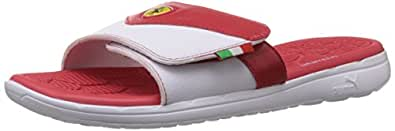 Puma Men's Slippin Webcage SF White-Rosso Corsa Hawaii Thong Sandals - 13UK/India (48EU)