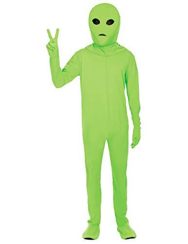 Preisvergleich Produktbild Erwachsene Grüne Ausländer Halloween Kostüm Raum Karneval Verkleidung Extra Large
