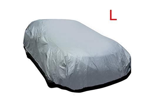AAQwsde Dauerhaft Universal-Wasserdichte Auto-Abdeckungs-Breathable Auto-Schutz bedeckt Größe L (Farbe : Silver)