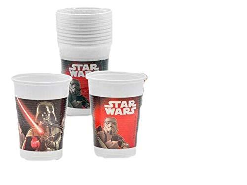 Packen Sie 20 Gläser für eine Party oder einen Geburtstag von Disney Star Wars; Darth Vaders; Kapazität 200 ml; Kunststoffprodukt. ()