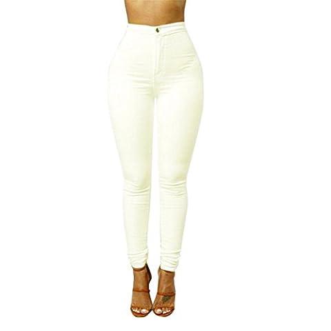 Pantalons,Malloom Jean Denim Femmes Nouvelles Couleurs Multi Fille Jean Pantalon Décontracté (M,