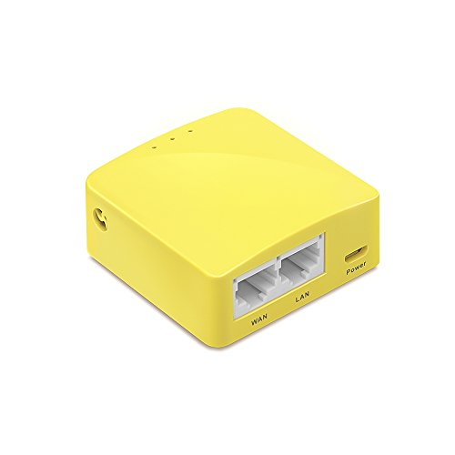 GL.iNet GL-MT300N-V2 Mini Travel Router, WiFi Converter, OpenWrt Pre-Installed, Repeater Bridge, 300Mbps High Performance, OpenVPN Client, Tor Compatible