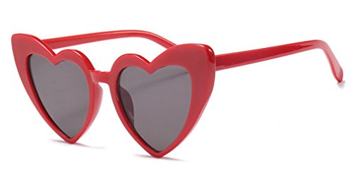 Love heart occhiali da sole da donna cat eye vintage christmas gift black pink red heart shape occhiali da sole per le donne red