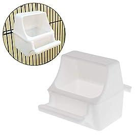 YiFeiCT Mangiatoia per uccelli, scatola anti-schizzi, scatola anti-schizzi, gabbia per pappagalli, piccioni, attrezzatura, acqua in plastica