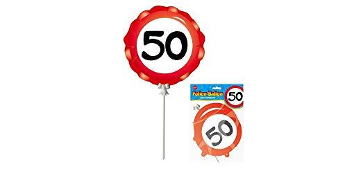 bb10 Schmuck 50.Geburtstag Deko Folienballon mit Zahl 50 3er Set Ballon zum 50.Geburtstag Party oder andere Anlässe