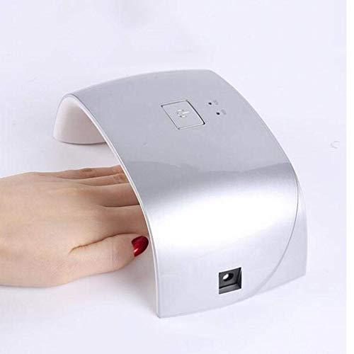 BCX die Nagel-Licht-Therapie-Maschinen-Nagel gebratene Lampen-Nagellack-Trockner-Sonnenschein-Nagel-Lampe,Silber- -
