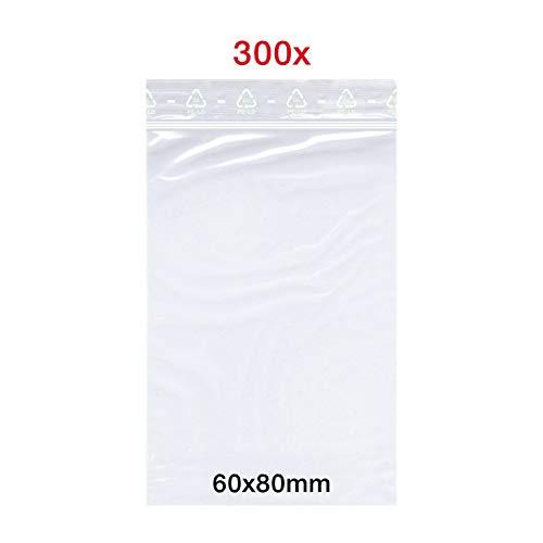 Smart packtm - sacchetto con chiusura a pressione, 300 x 60 x 80 mm, din a8, 50 mμ