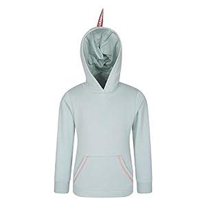 Mountain Warehouse Unicorn Kapuzenpullover für Kinder – leicht, etwas skurril, mit Kängurutasche und Einhorn-Horn und -Haar auf der Kapuze, pflegeleicht