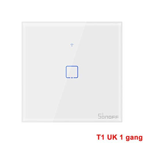 Timlatte SONOFF T1UK1C-TX 1C / 2C / 3C WiFi-Wandschalter RF-gesteuerter Smart-Touch-Panel-Schalter EU-Standard - Tx Wifi