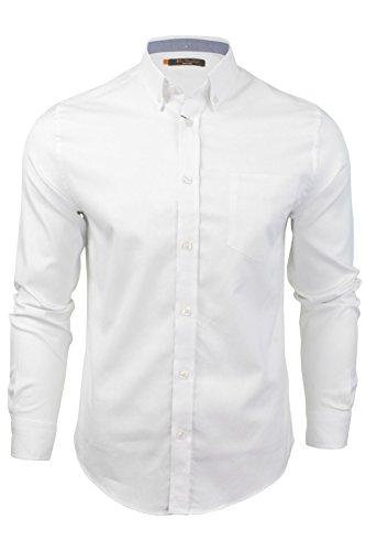mens-long-sleeved-oxford-shirt-by-ben-sherman-white-xl