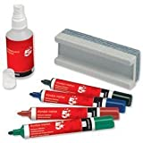 Brand New. 5 Star Drywipe Starter Kit of Drywipe Eraser and 100ml Cleaner and 4 Whiteboard Markers Assorted