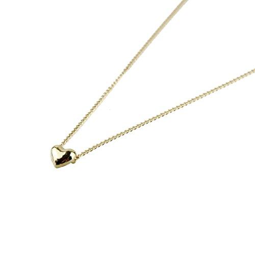 WINWINTOM Glattes kleines Frauen Herz Kristallrosen Gold überzogene hängende Halsketten Schmucksachen Initial Halskette 14k Gold