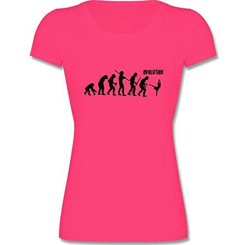 Evolution Kind - Modern Dance Evolution - 140 (9-11 Jahre) - Fuchsia - F288K - Mädchen T-Shirt (T-shirt Tänzerin Damen-pink)