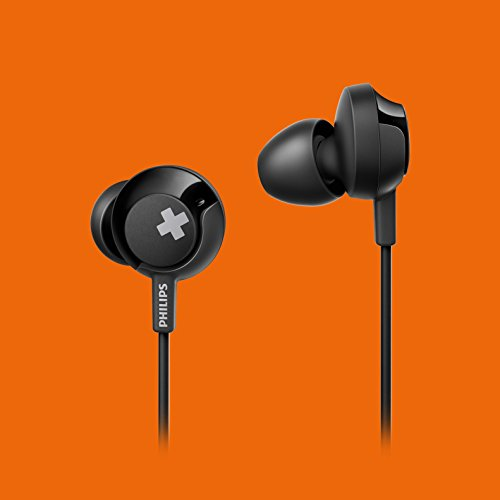 Philips Bass+ SHE4305 Headphones with Mic (Black) Image 10