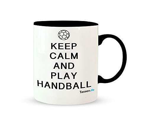 Tasse mit Spruch - And play Handball - Lustige Kaffetasse – Kaffee-Becher – Teetasse - Die perfekte Geschenk-Idee
