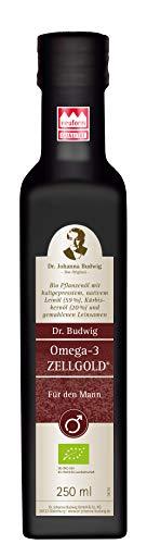 Dr. Budwig Omega-3 Zellgold - Für den Mann - Das Original - Unterstützt die Vitalität durch die wirkungsvolle Kombination aus Alpha-Linolensäure, Sesam- und Arganöl; enthält Phytosterine, 250 ml
