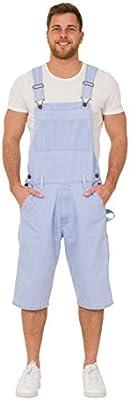 Peto Corto - Hombre pantalones cortos de mezclilla dungaree BLAKEPALE