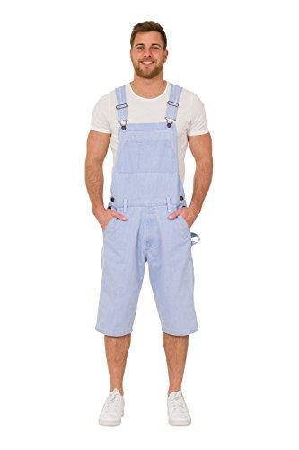 Herren Latzhose Overall Shorts Lightwash kurze latzhose latz shorts BLAKEPALE-XXXXL-44