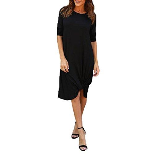 Manadlian-Robes Longue, Robe Ete Femme les Femmes hors Épaule Tricoté Bodycon Party Ladies Cocktail Mini Robe Noir