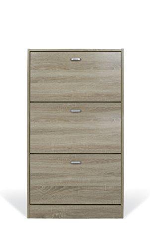 Trendyitalia 12955 scarpiera rovere, legno, beige, 63 x 24 x 115 cm