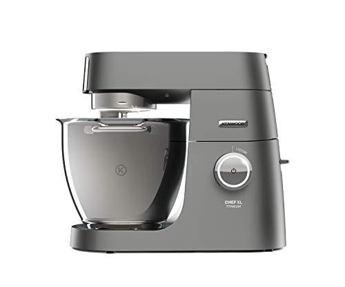 Kenwood Chef XL Titanium KVL8320S - leistungsstarke Küchenmaschine, 6,7 l Rührschüssel mit Innenbeleuchtung, Easy-Lift & Interlock-Sicherheitssystem, 1700 Watt, inkl. 5-teiligem Patisserie-Set, silber