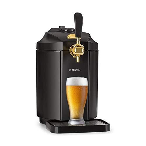 Klarstein Skal • dispensador de cerveza • enfriador de cerveza • para barriles de 5L • cartuchos de presión de CO² • incluye 3 cartuchos • pantalla LED • sistema de enfriamiento termoeléctrico • negro