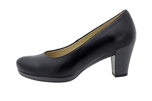 Zapato Cómodo Mujer Salón Piel Negro 9301 PieSanto