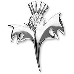 Plata de Ley Escocia Tradicional Cardo la Flor de Escocia Diseño Broche