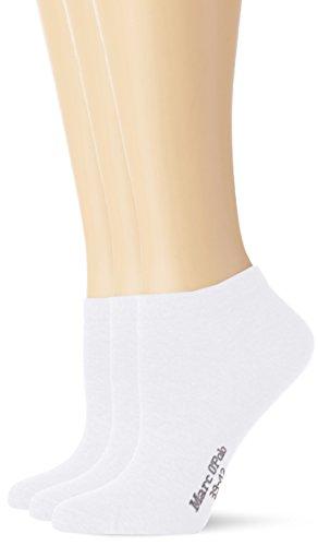 Marc O\'Polo Body & Beach Damen Matt Fein Füßlinge SNEAKER Damen  3er Pack, Gr. 35/38 (Herstellergröße: 400), Weiß (weiss 100)