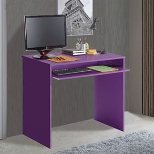 Habitdesign 002314L - Mesa de ordenador con bandeja extraible, color Lila, dimensiones: 90x79x54 cm de fondo