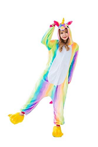 Pigiama unicorno kigurumi donna uomo aggiorna flanella cappuccio pigiama tuta intera onesie stitch sleepwear anime costume per compleanno carnevale cosplay easter festa halloween natale party