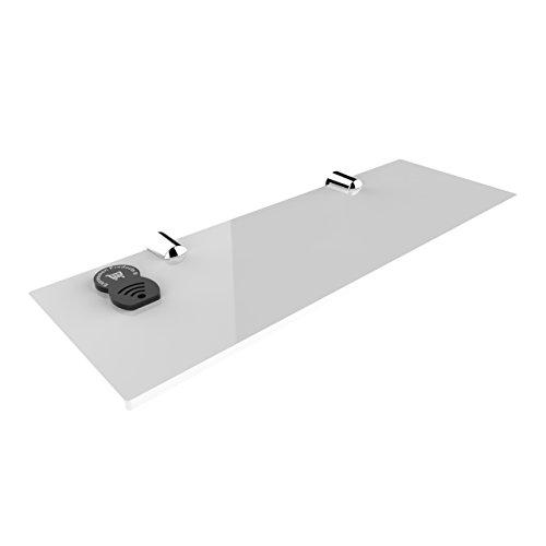 Estantería de pared para baño, oficina o dormitorio, acrílico, fijación segura, 300 x 100 mm