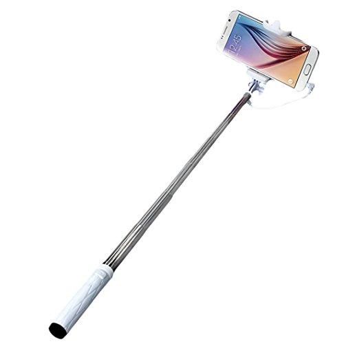 Fulltime® Trépied de Self Pole Poche Extensible Monopode bâton pour Smartphone (Blanc)