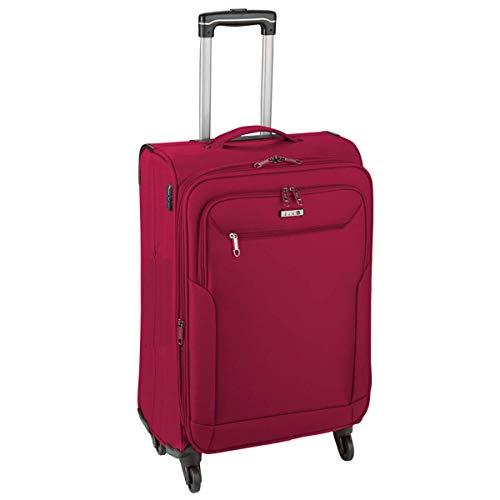 Koffer M Klein Rot 55 x35x22cm Weich Kabinen Pack Trolley 2,4 kg Leicht Bowatex
