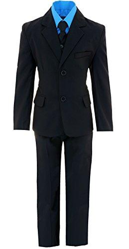 Gillsonz A2237 5-TLG.Kind er festlich Junge Kommunions Hochzeit Anzug Hemd Gr.86-152 (Türkis, 128/134) (Im Junge Anzug)