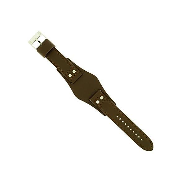 Fossil Uhrenarmband 22mm Leder Dunkelbraun CH-2565