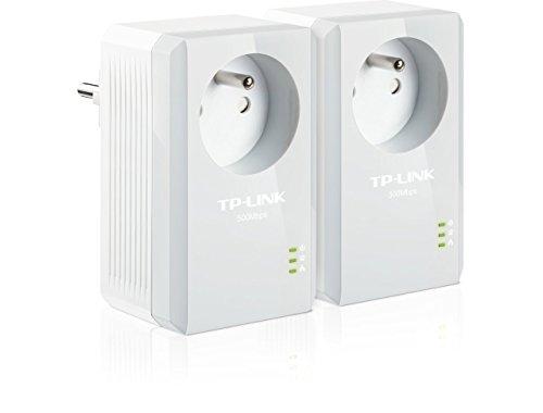 TP-Link TL-PA4015PKIT 500 Mbps Pack de 2 Adaptateurs CPL (1 Port Ethernet, Prise Intégrée)